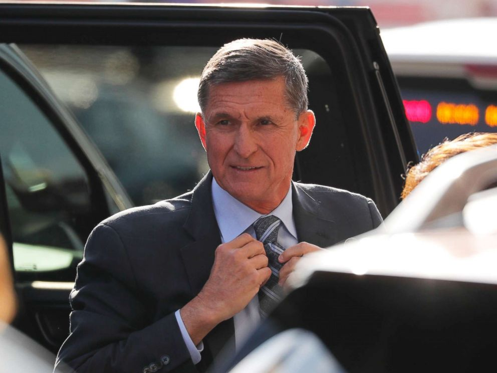 PHOTO: Former U.S. National Security Adviser Michael Flynn arrives for a plea hearing at U.S. District Court, December 1, 2017.