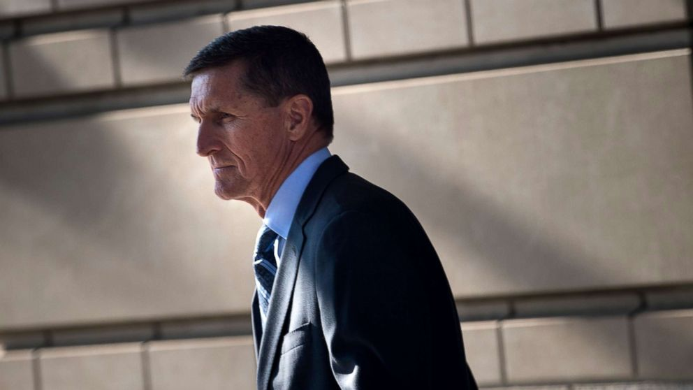 Gen. Michael Flynn, former national security adviser, leaves Federal Court Dec. 1, 2017 in Washington, DC, after he pleaded guilty to one count of lying to the FBI about his back-channel negotiations with the Russian ambassador.