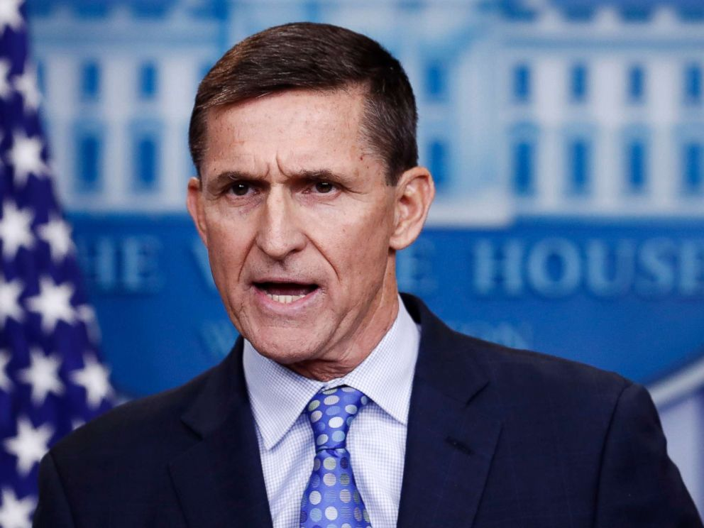 PHOTO: Former National Security Adviser Michael Flynn during the daily news briefing at the White House, Feb. 1, 2017, in Washington, D.C.
