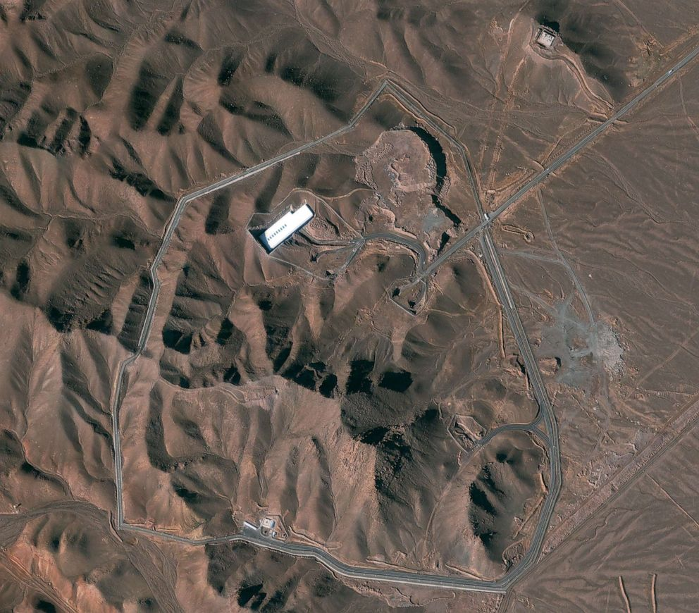 PHOTO: This is a satellite image of the Fordow facility in Iran dated Jan. 30, 2013.