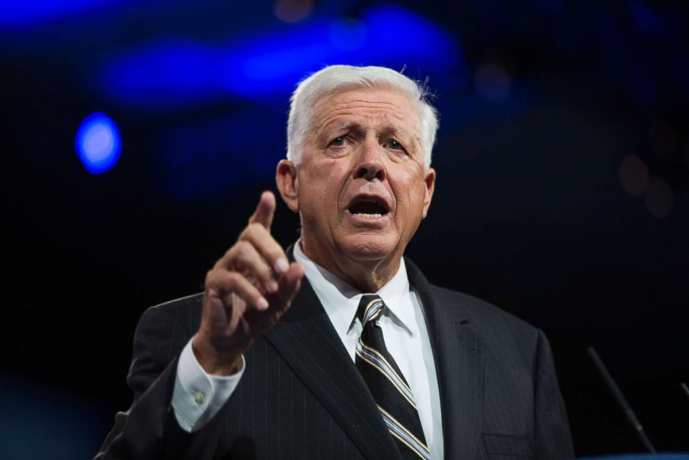 Republican donor Foster Friess at the 40th Annual Conservative Political Action Conference (CPAC) at the Gaylord National Resort & Convention Center in National Harbor, Maryland.