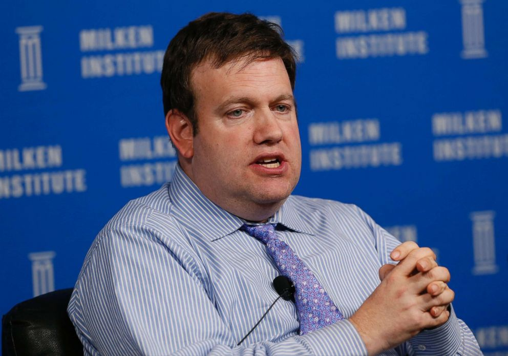 PHOTO: Frank Luntz, chairman and chief executive officer of Luntz Global Partners, speaks at the annual Milken Institute Global Conference in Beverly Hills, Calif., April 29, 2014.