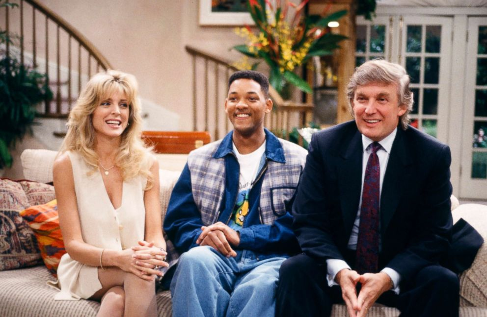 PHOTO: Marla Maples as Herself, Will Smith as William Will Smith, Donald Trump as Himself, in a scene from The Fresh Prince of Bel-Air.