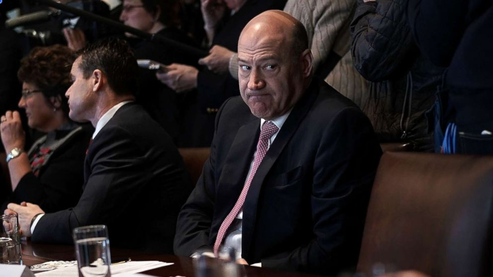 Director of the National Economic Council Gary Cohn listens during a meeting between President Donald Trump and congressional members in the Cabinet Room of the White House, Feb. 13, 2018 in Washington.
