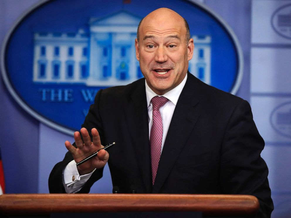 PHOTO: White House chief economic adviser Gary Cohn, speaks to reporters during the daily press briefing at the White House, on Jan. 23, 2018