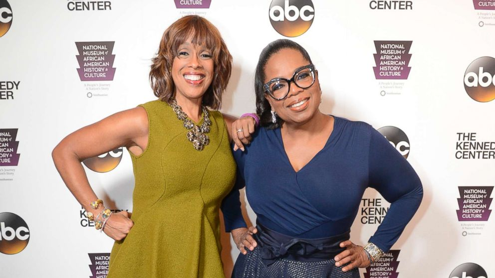 Gayle King and Oprah Winfrey at the opening of the Smithsonian's new National Museum of African American History and Culture, taped at the Kennedy Center in Washington, Sept. 23, 2016, which will air as a two-hour prime time special on Jan. 12, 2018 on the ABC Television Network.