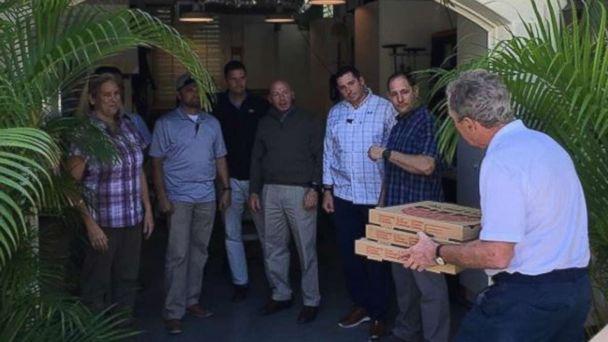 George W. Bush delivers pizzas to Secret Service detail, makes rare political statement
