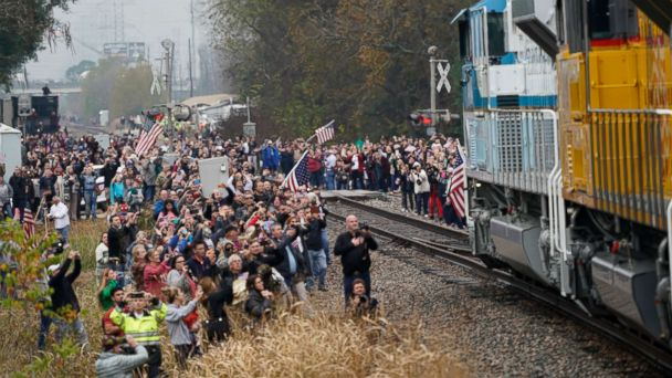 Navy veterans crew George H.W. Bush's historic presidential funeral train