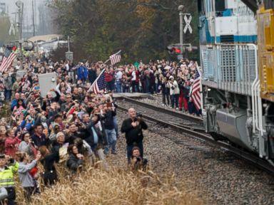Navy veterans crew George H.W. Bush's historic presidential funeral train