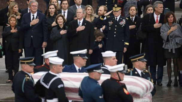 President George H.W. Bush laid to rest next to wife, daughter