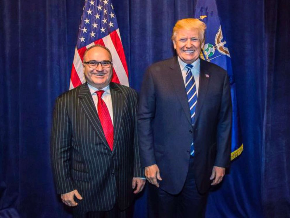 PHOTO: In this Oct. 25, 2017, photo acquired by The Associated Press, George Nader poses backstage with President Donald Trump at a Republican fundraiser in Dallas.