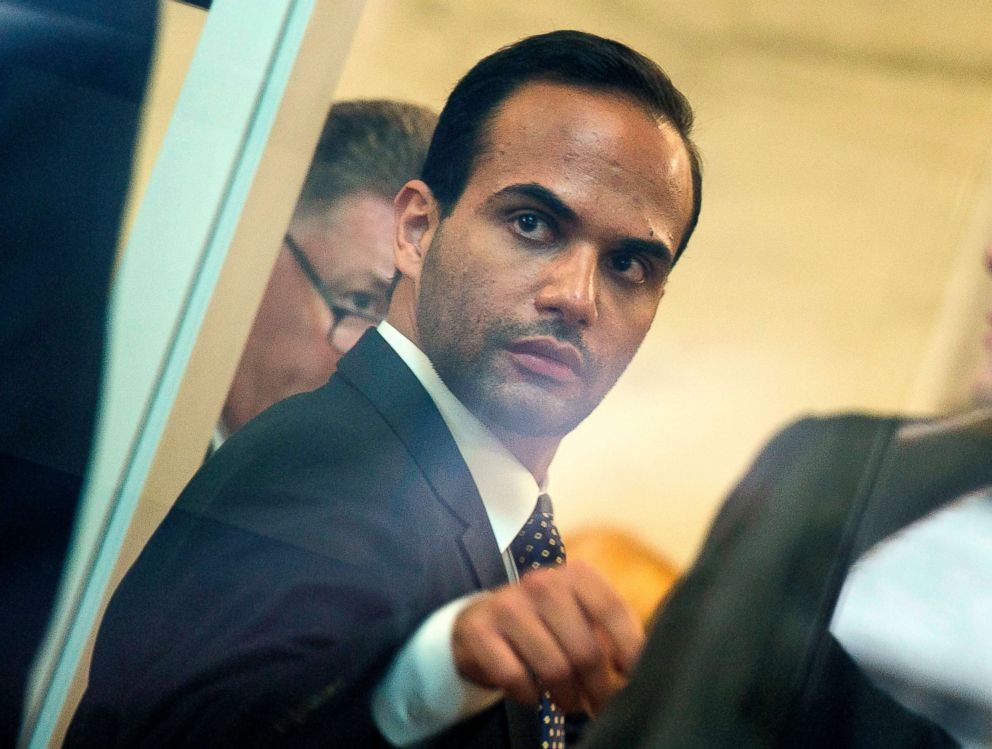 PHOTO: Foreign policy advisor to President Donald Trumps election campaign, George Papadopoulos goes through security at the US District Court for his sentencing in Washington, D.C., Sept. 7, 2018.