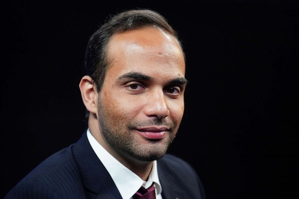 PHOTO: George Papadopoulos, a former member of the foreign policy panel to Donald Trumps 2016 presidential campaign, poses for a photo before a TV interview in New York, March 26, 2019.
