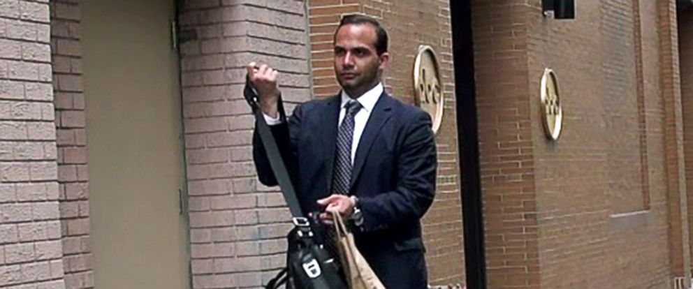 PHOTO: George Papadopoulos, a Trump campaign foreign policy adviser, seen here in April 2017 in New York City, pleaded guilty to making false statements to FBI agents.