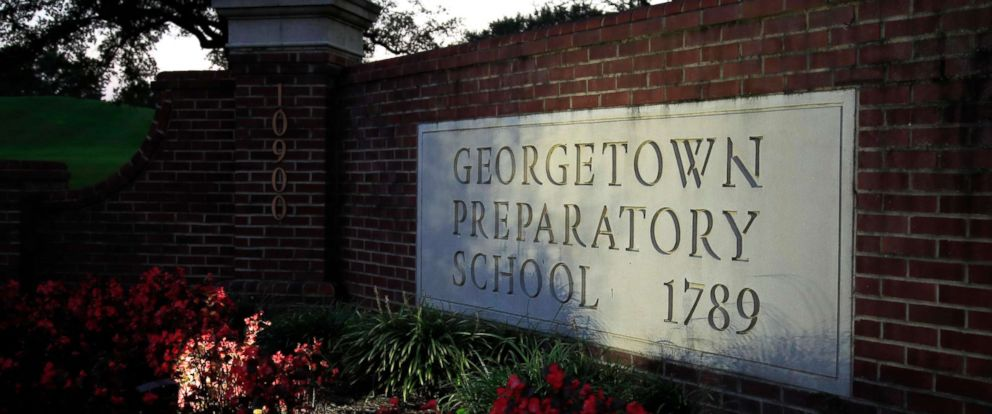 PHOTO: The entrance to the Georgetown Preparatory School Bethesda, Md., is shown, Sept. 19, 2018.