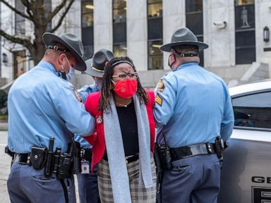 Georgia lawmaker'shaken but resolved' subsequent arrest at election bill signing thumbnail