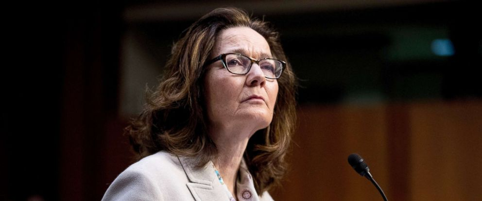 PHOTO: Gina Haspel, President Donald Trumps pick to lead the Central Intelligence Agency, pauses while testifying at her confirmation hearing before the Senate Intelligence Committee, on Capitol Hill, May 9, 2018, in Washington.