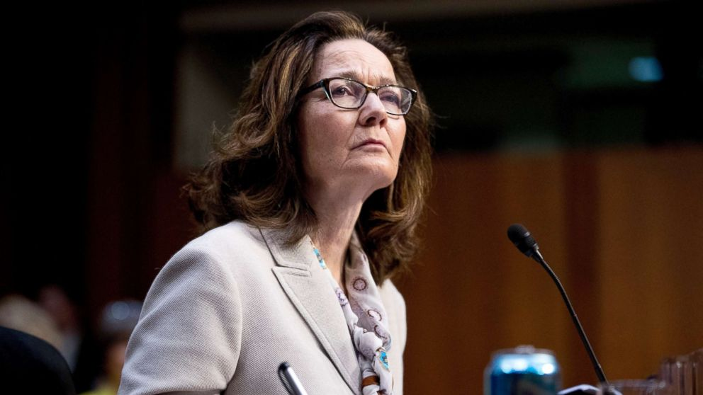 Gina Haspel, President Donald Trump's pick to lead the Central Intelligence Agency, pauses while testifying at her confirmation hearing before the Senate Intelligence Committee, on Capitol Hill, May 9, 2018, in Washington.