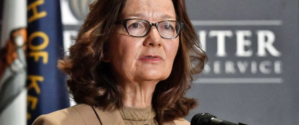 PHOTO: CIA Director Gina Haspel addresses the audience in Louisville, Ky., Sept. 24, 2018.