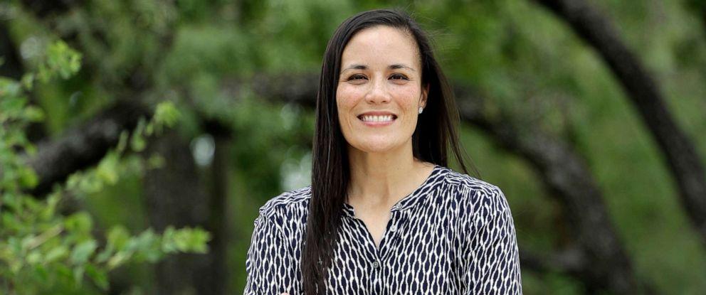 PHOTO: Gina Ortiz Jones is pictured on Aug. 10, 2018, in San Antonio, Texas.