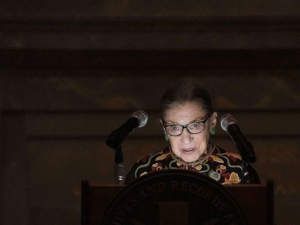 Justice Ruth Bader Ginsburg hails immigrants as debate rages over asylum seekers
