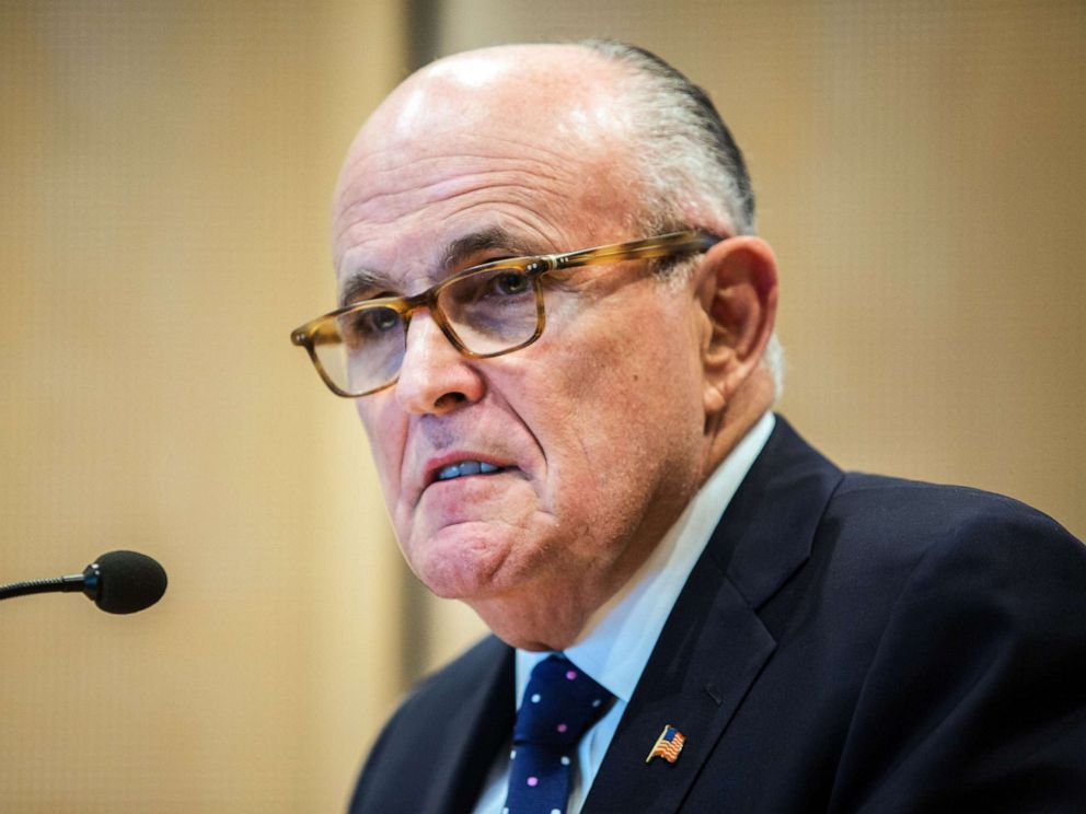 PHOTO: Former New York Mayor, Rudy Giuliani, attends a press conference of the Berlin Merchants and Industrialist Society (VBKI) in Berlin, Germany, 08 June 2016.