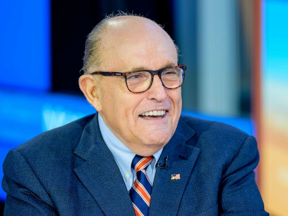 PHOTO: Former New York City Mayor and attorney to President Donald Trump, Rudy Giuliani, visits Fox Business Network Studios on Sept. 23, 2019, in New York.