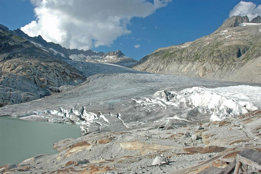 PHOTO: The Rhone glacier is a glacier in the Swiss Alps and the source of the river Rhône and one of the primary contributors to Lake Geneva.