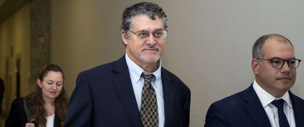 PHOTO: Fusion GPS Co-Founder Glenn Simpson leaves with his attorney, Joshua Levy, right, after a meeting with members of the House Judiciary and Oversight Committee, Oct. 16, 2018, in Washington.