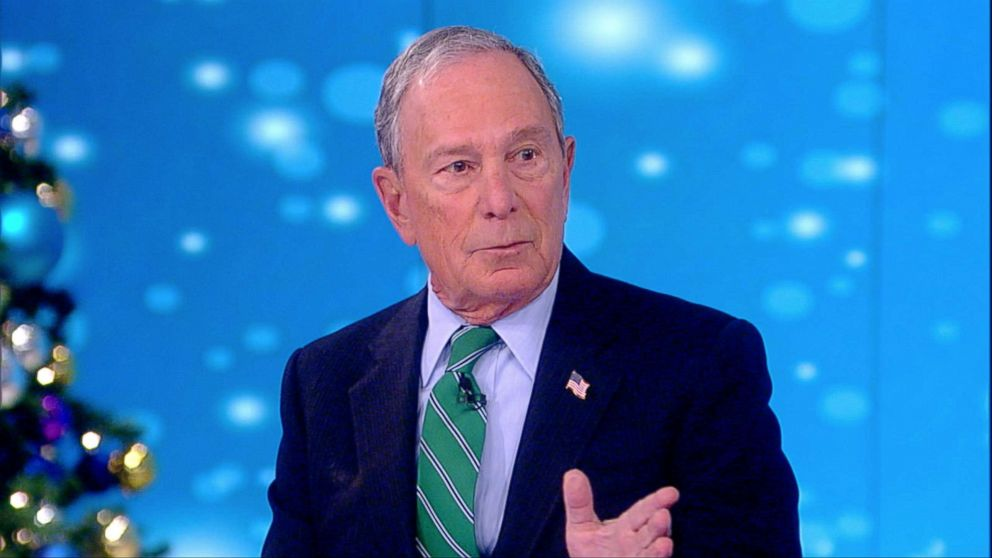 PHOTO: Michael Bloomberg appears on The View, Dec. 12, 2018.