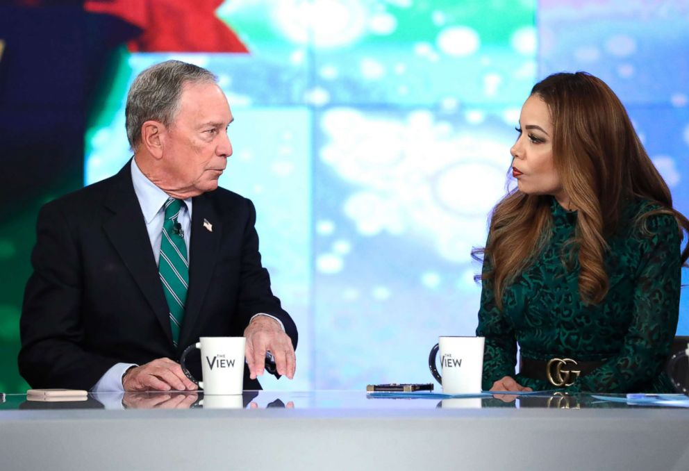 PHOTO: Michael Bloomberg appears on ABCs The View, Dec. 12, 10.