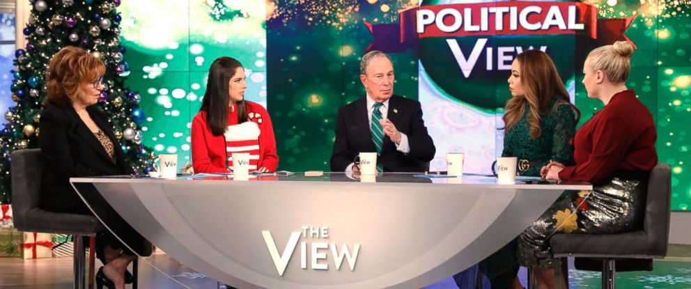 "PHOTO: Michael Bloomberg appears on ABCs ""The View,"" Dec. 12, 10."