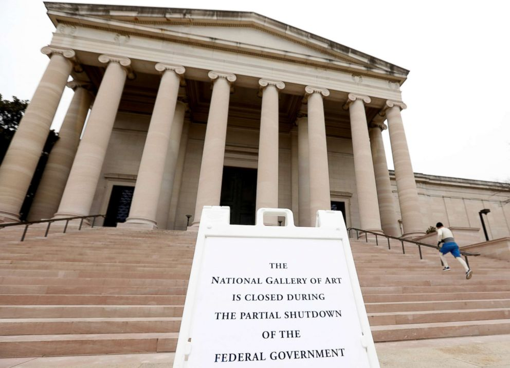 The National Gallery of Art, which is closed due to the partial government shutdown, in Washington, Jan. 4, 2019.