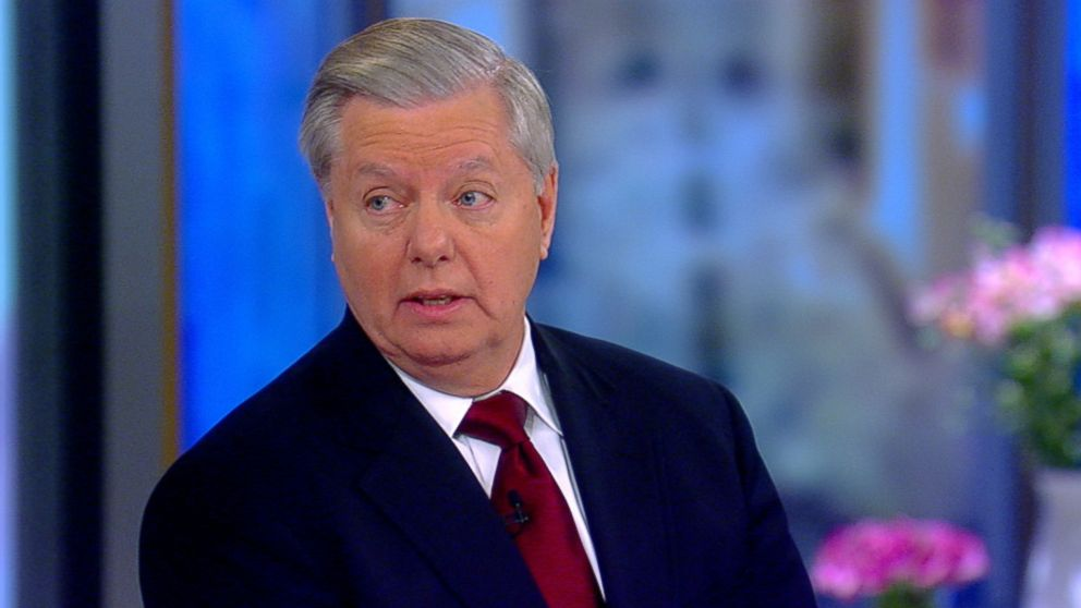 """Sen. Lindsey Graham appears on """"The View,"""" Jan. 8, 2018."""