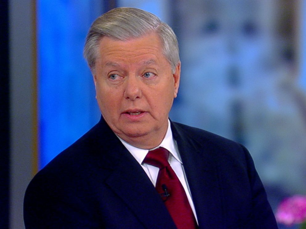 PHOTO: Sen. Lindsey Graham appears on The View, Jan. 8, 2018.