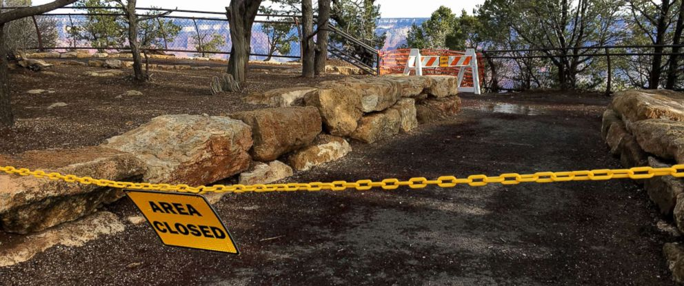 PHOTO: A Grand Canyon observation area is closed due to repairs.
