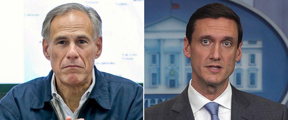 PHOTO: Pictured (L-R) are Gov. Greg Abbott and White House Homeland Security Advisor Tom Bossert.