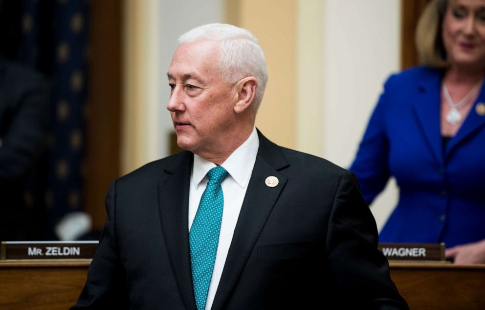 PHOTO: In this file photo, Rep. Greg Pence takes his seat for the House Foreign Affairs Committee hearing on NATO at 70: An Indispensable Alliance on March 13, 2019.