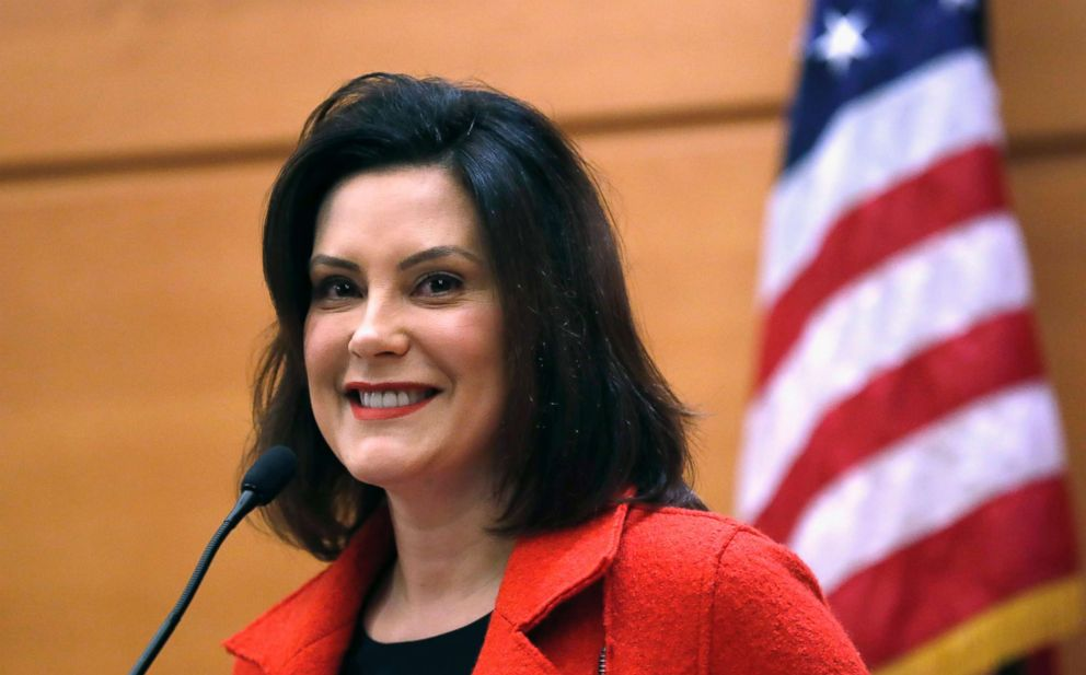 PHOTO: Michigan Gov.-elect Gretchen Whitmer hosts a post-election news conference in Detroit.