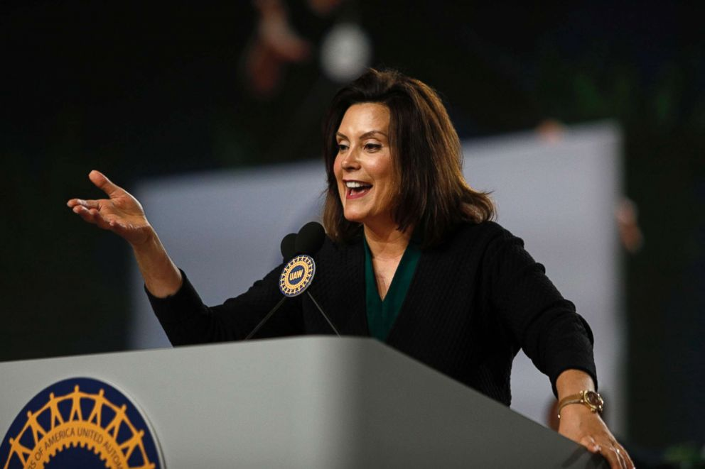 Michigan Democrat Gubernatorial candidate Gretchen Whitmer addresses the 37th United Auto Workers Constitutional Convention June 14, 2018 at Cobo Center in Detroit.