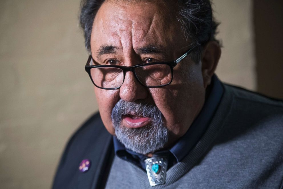 PHOTO: Rep. Raul Grijalva leaves a meeting of the House Democratic Caucus at the Capitol, Jan. 4, 2019, in Washington, D.C.
