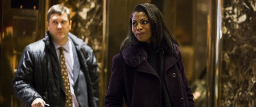PHOTO: Omarosa Manigault arrives at Trump Tower in New York, Dec. 13, 2016.