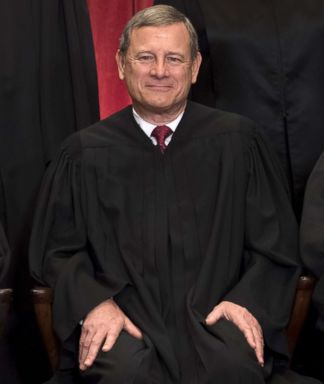 PHOTO: Chief Justice John Roberts sits for an official photo with other members of the Supreme Court in the Supreme Court in Washington, DC, June 1, 2017.