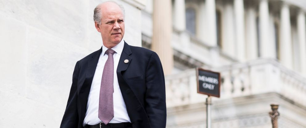 PHOTO: Rep. Dan Donovan, R-N.Y., walks down the House steps at the Capitol after a series of votes on repeal and replace of Obamacare, May 4, 2017.