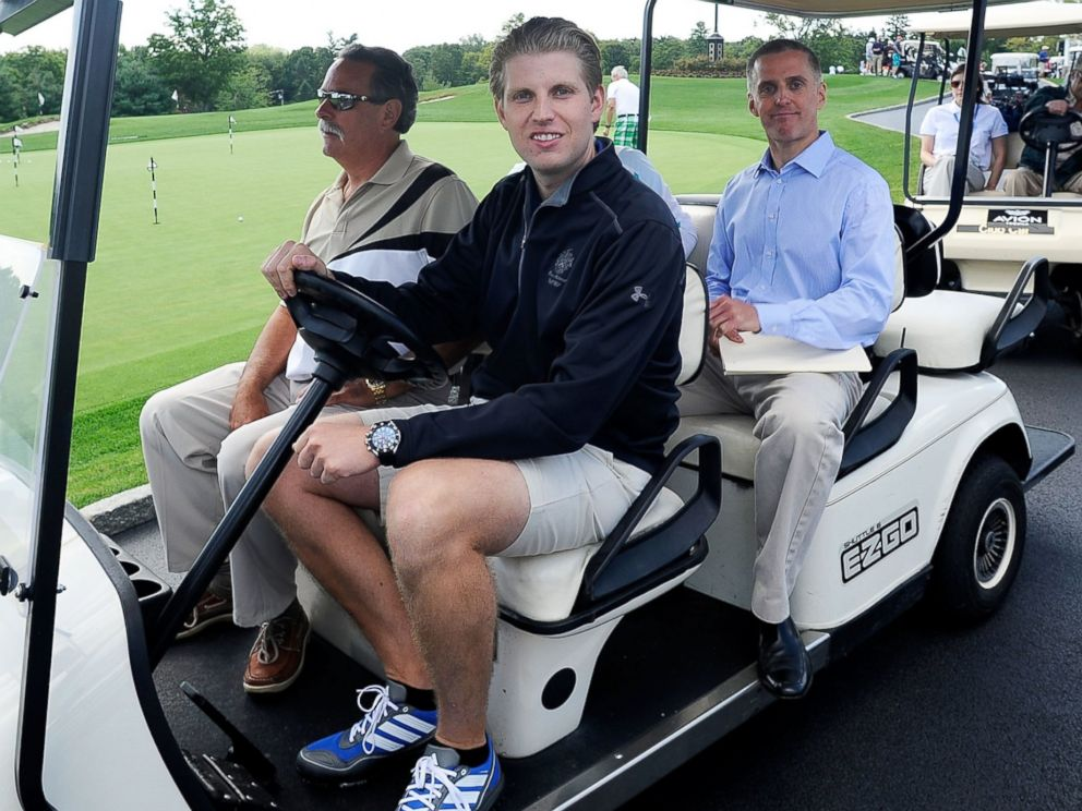 PHOTO: Eric Trump attends his foundations 6th annual golf invitational benefiting the St. Jude Childrens Research Hospital at Trump National Golf Club Westchester on Sept. 10, 2012 in Briarcliff Manor, N.Y.