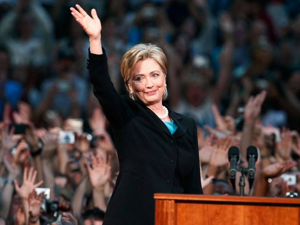 PHOTO: Sen. Hillary Rodham Clinton makes her concession speech to supporters at the National Building Museum, June 7, 2008 in Washington, D.C.