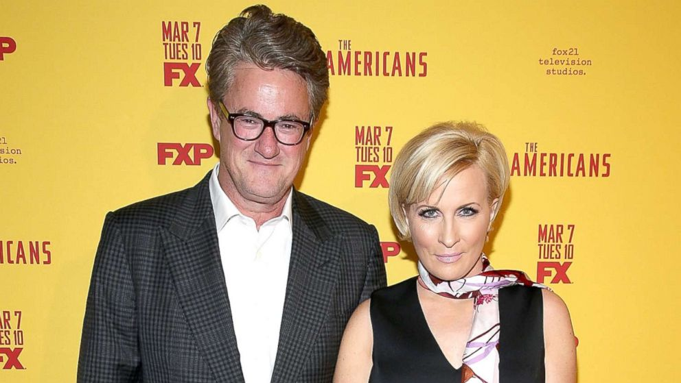 """Television hosts Joe Scarborough and Mika Brzezinski attend """"The Americans"""" Season 5 Premiere at DGA Theater on Feb. 25, 2017 in New York."""