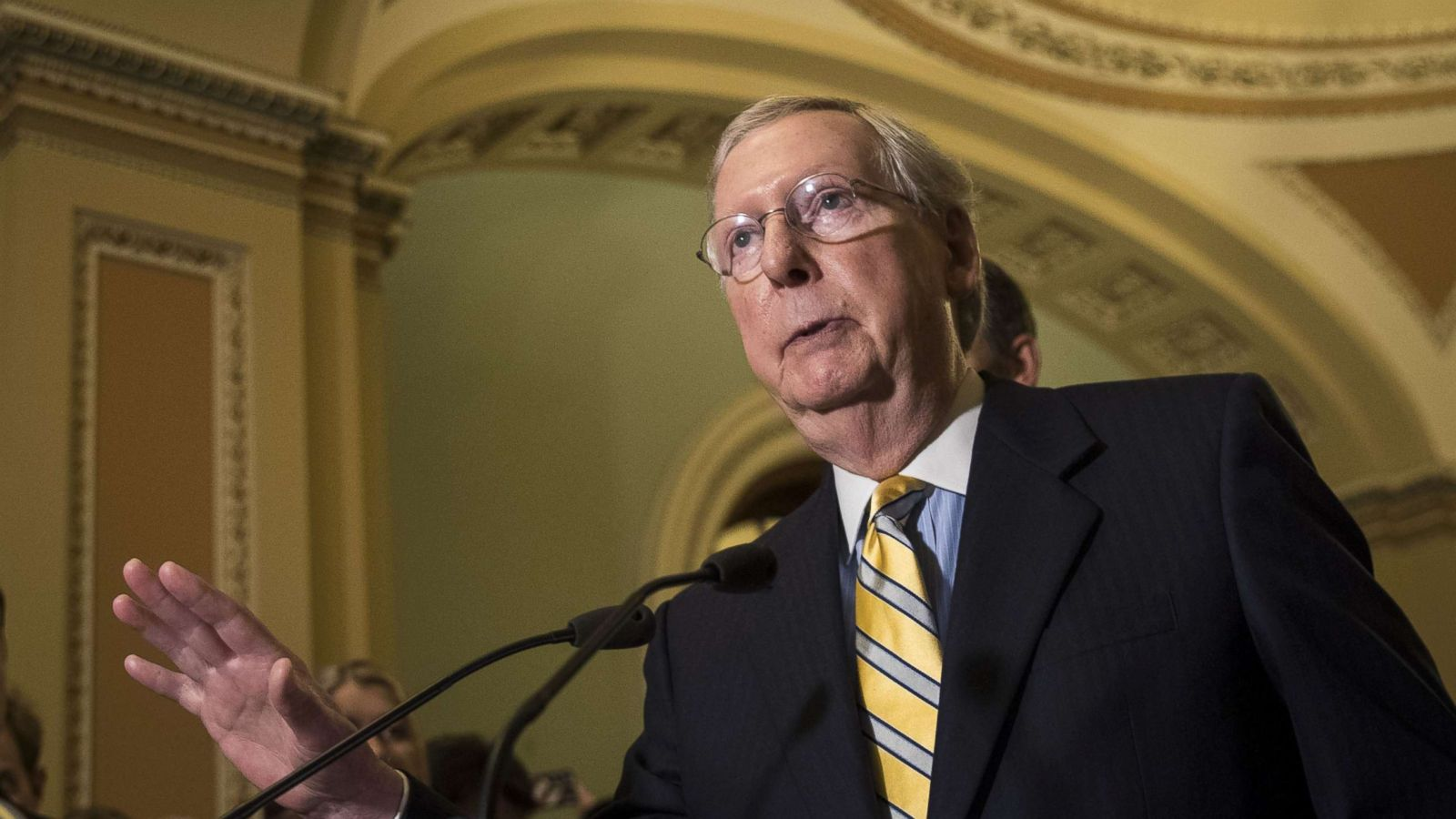 Top Senate Republican Mitch Mcconnell Warns Of Possible Bipartisanship On Health Care Abc News