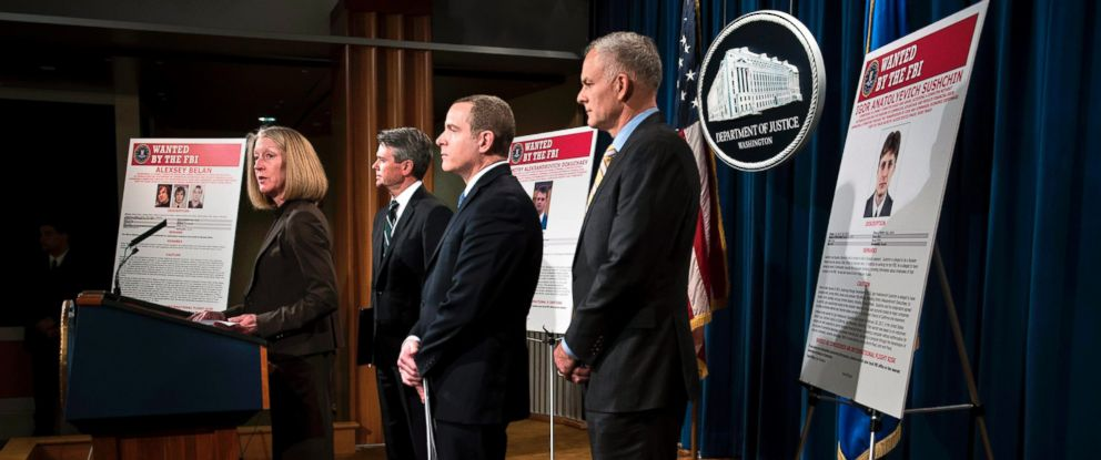 PHOTO: Acting Assistant Attorney General of National Security Mary McCord speaks at a press conference to announce criminal charges against three Russians for the 2014 hacking of Yahoo at the U.S. Department of Justice March 15, 2017 in Washington, D.C.