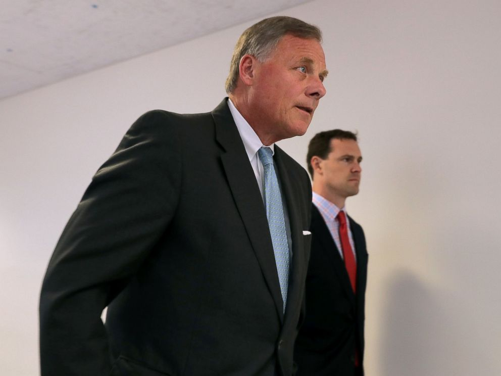 PHOTO: Senate Intelligence Committee Chairman Richard Burr arrives for a closed-door committee meeting in the Hart Senate Office Building on Capitol Hill, June 6, 2017 in Washington, DC.